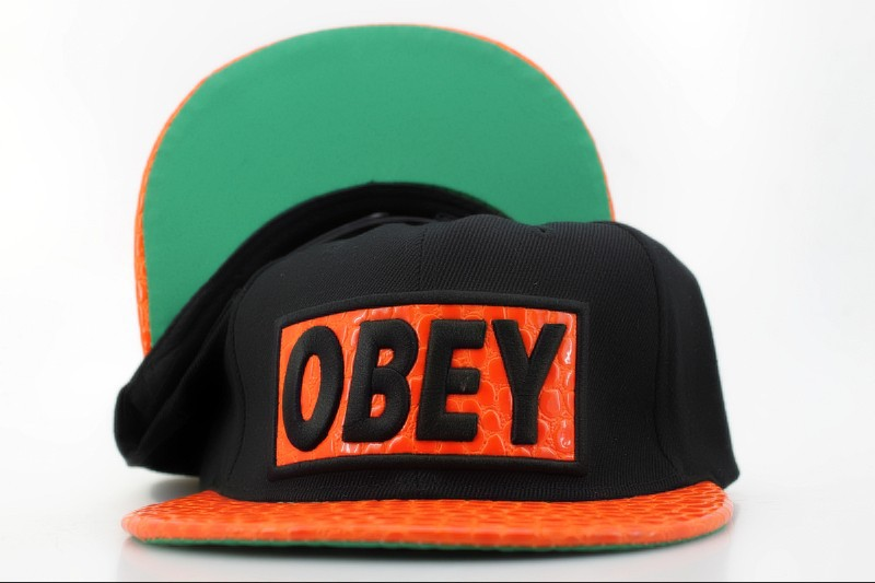 Obey Black Snapback Hat QH 2 0721